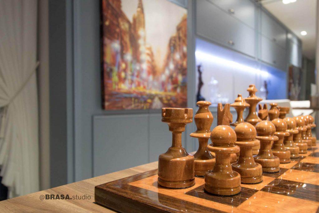 Projeto de interiores de escritório de advocacia Zoldan & Rodrigues, fotografia da decoração do escritório - BRASA studio