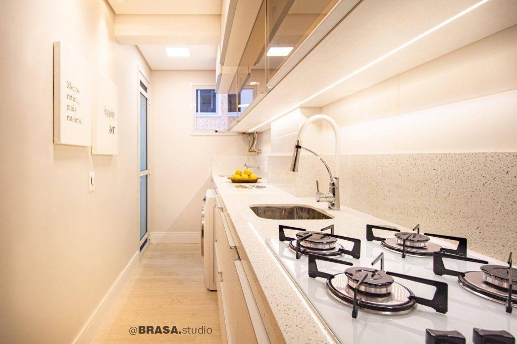 Projeto de interiores de apartamento, fotografia da cozinha - BRASA studio