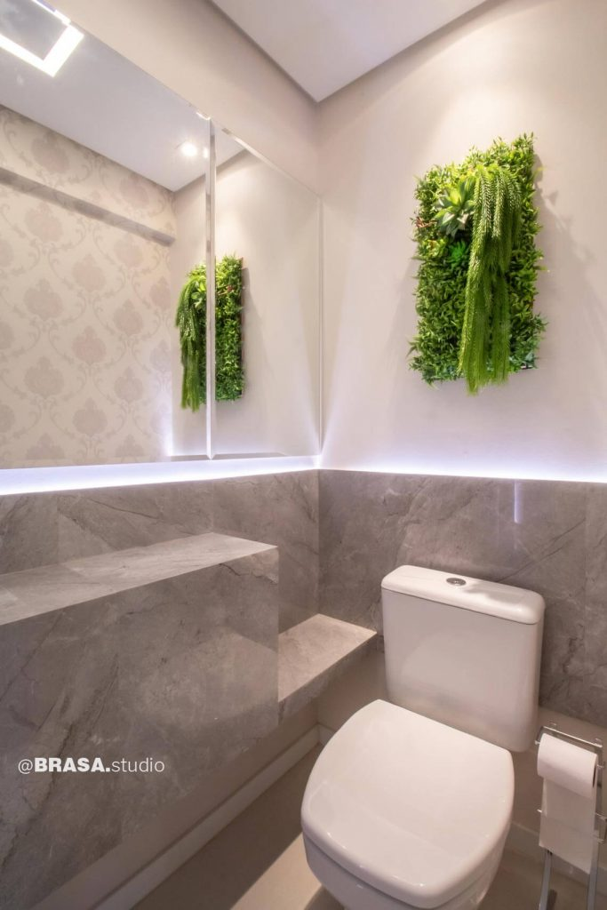 Projeto de interiores de apartamento, fotografia do lavabo - BRASA studio