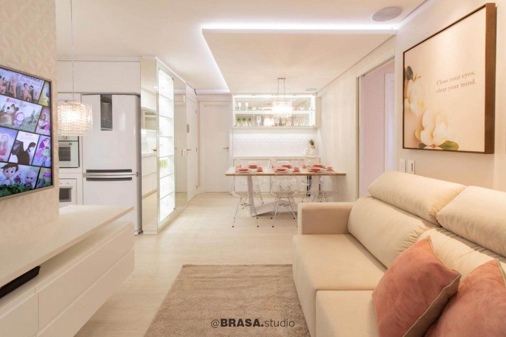 Projeto de interiores de apartamento, fotografia da sala de jantar - BRASA studio