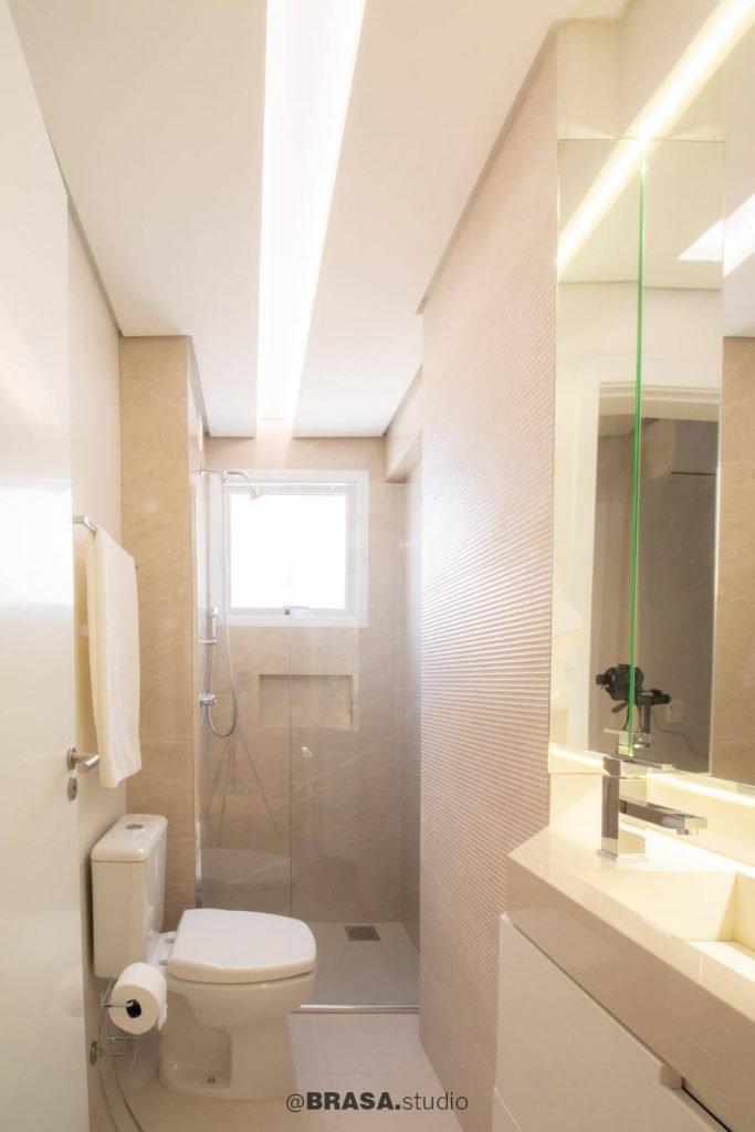 Projeto de interiores de apartamento, fotografia do banheiro - BRASA studio